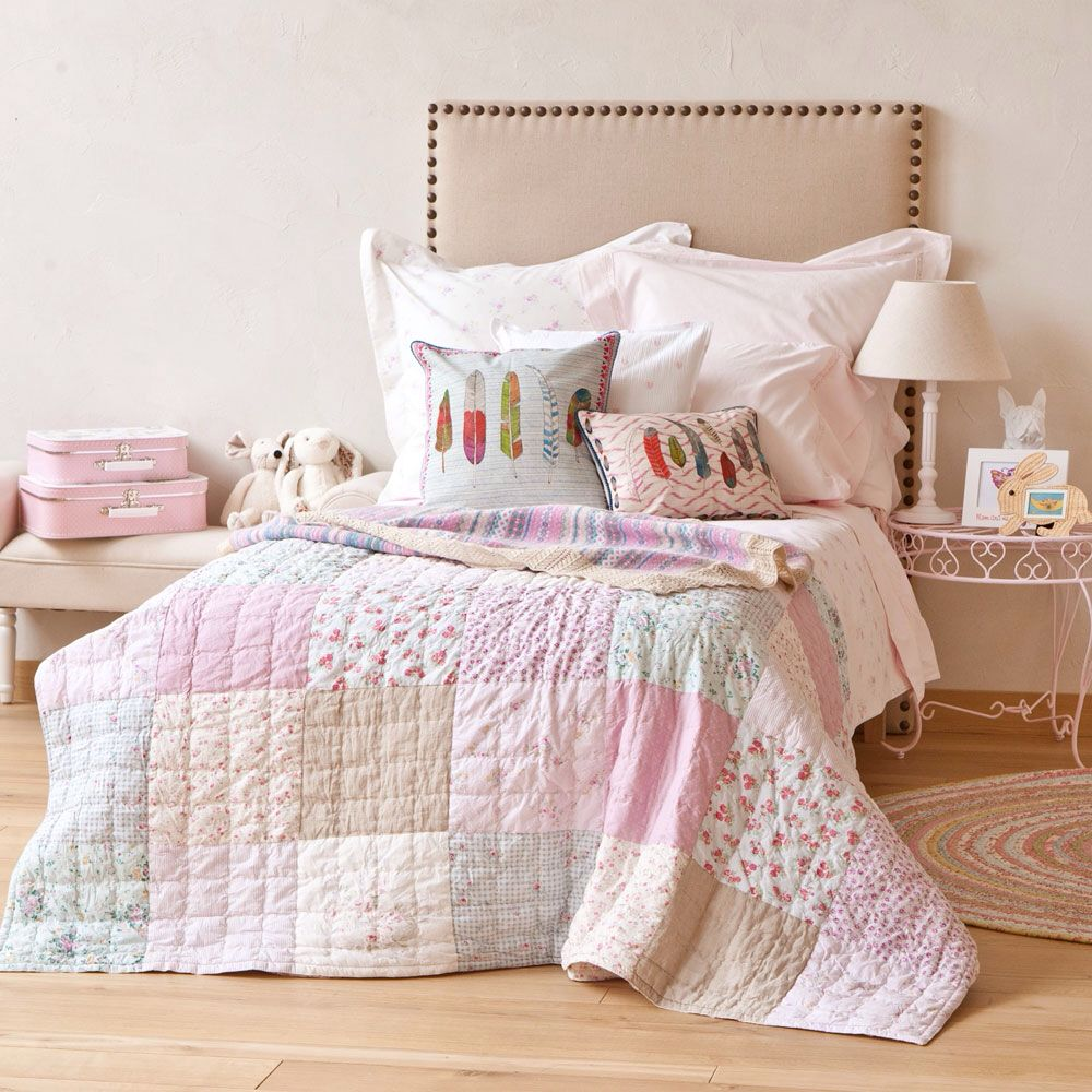 Colcha patchwork zara home decoraci n pinterest for Fundas cojines zara home