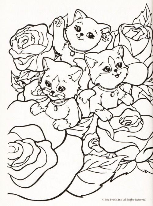 kleurplaat poezen tussen rozen kleurplaten disney
