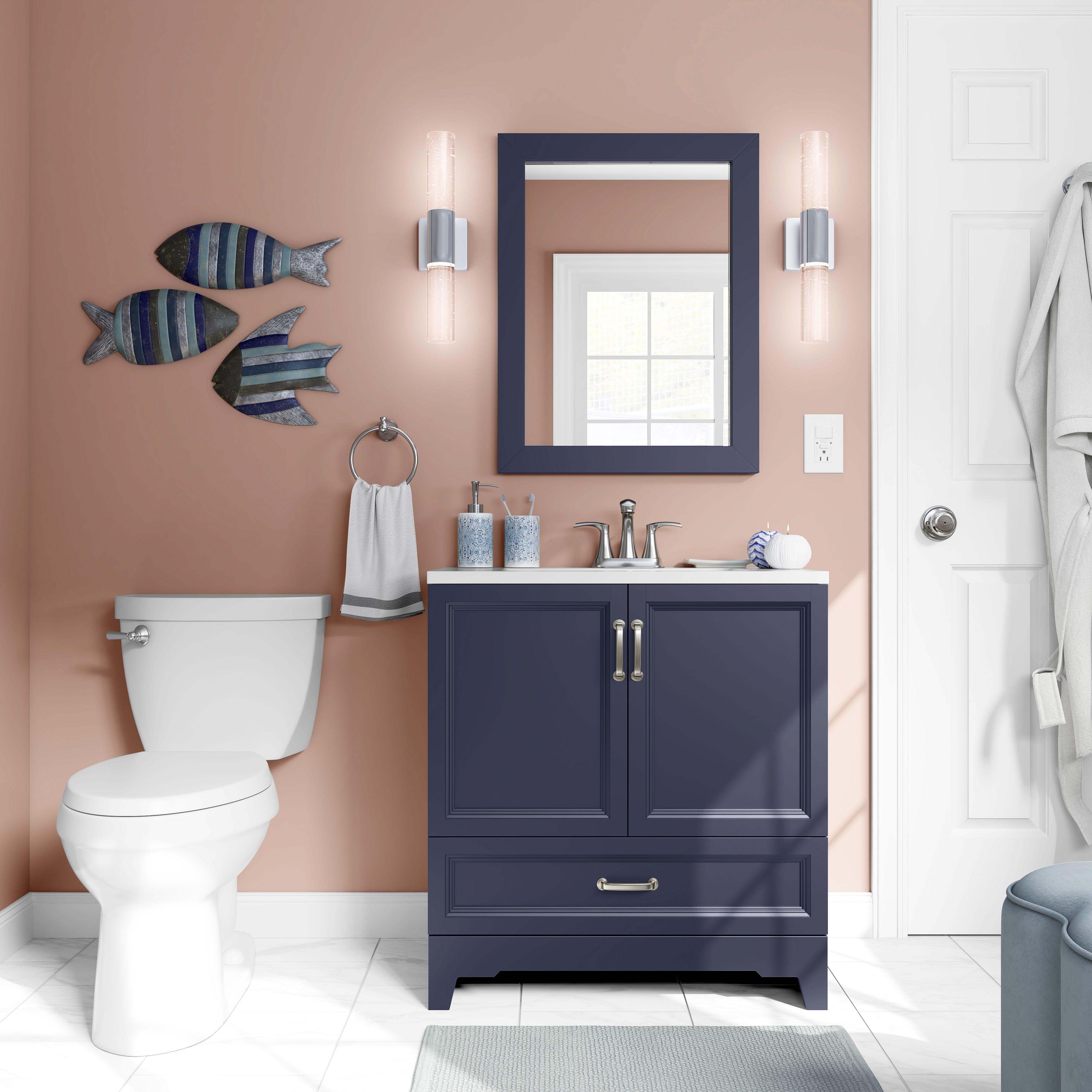 Pin By Mary Lou Tebo On Costal Chic Bathroom Single Sink Bathroom Vanity Painted Vanity Bathroom Bathroom Sink Vanity
