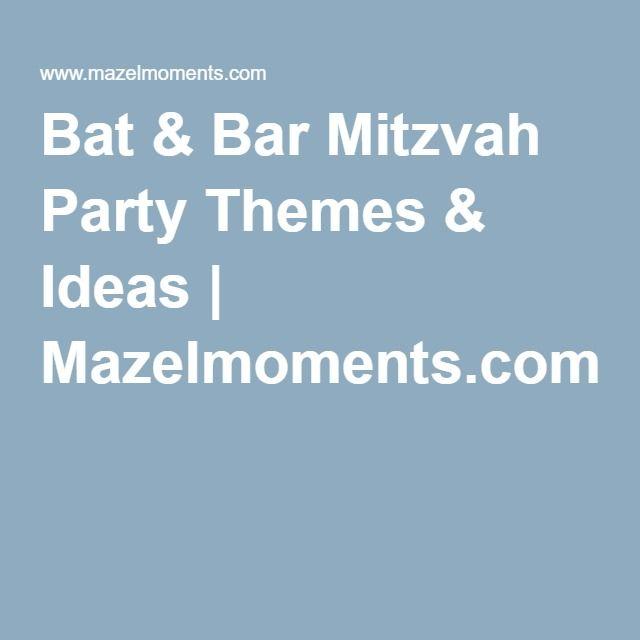 Bat & Bar Mitzvah Party Themes & Ideas | Mazelmoments.com