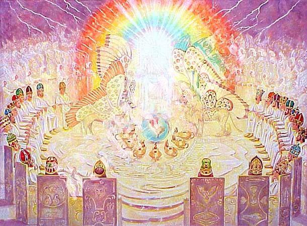 God on the Throne | God's HotSpot | Heaven art, Prophetic art, Spiritual  artwork