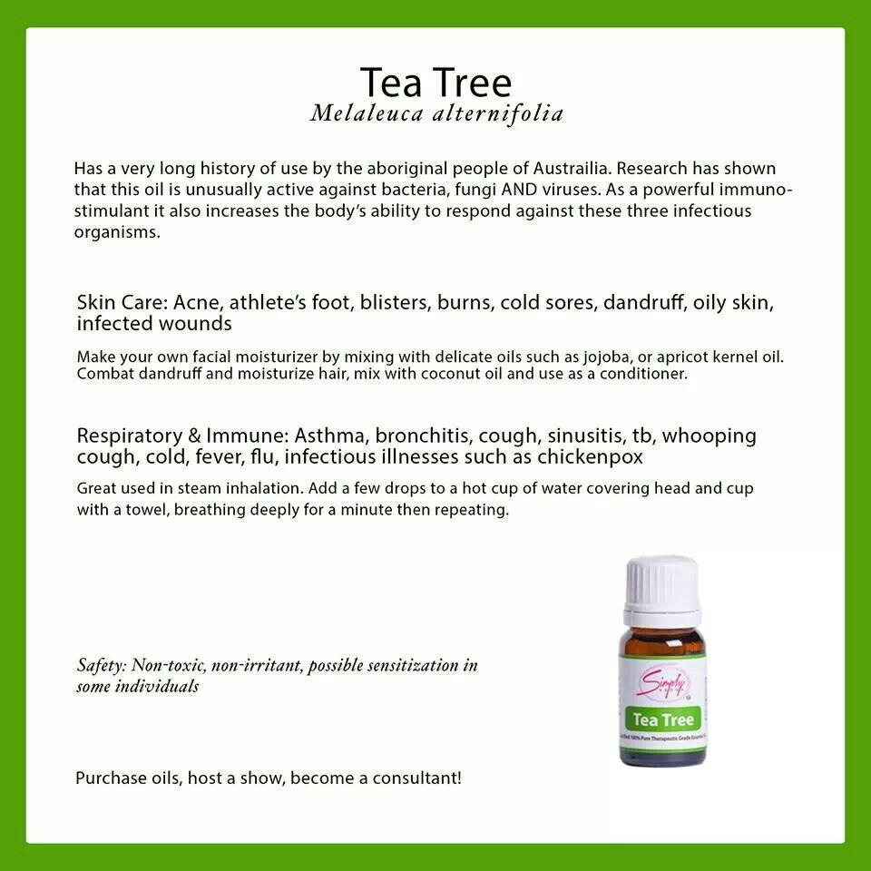 Tea tree oil is so versatile!! simplyaroma.com/amandahughes