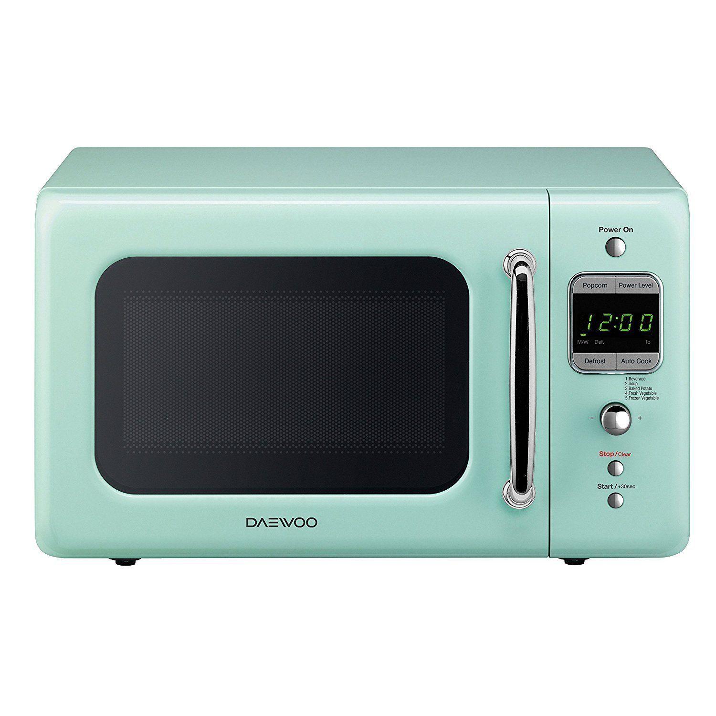 Amazon Com Daewoo Kor 7lrem Retro Microwave Oven 0 7 Cu Ft