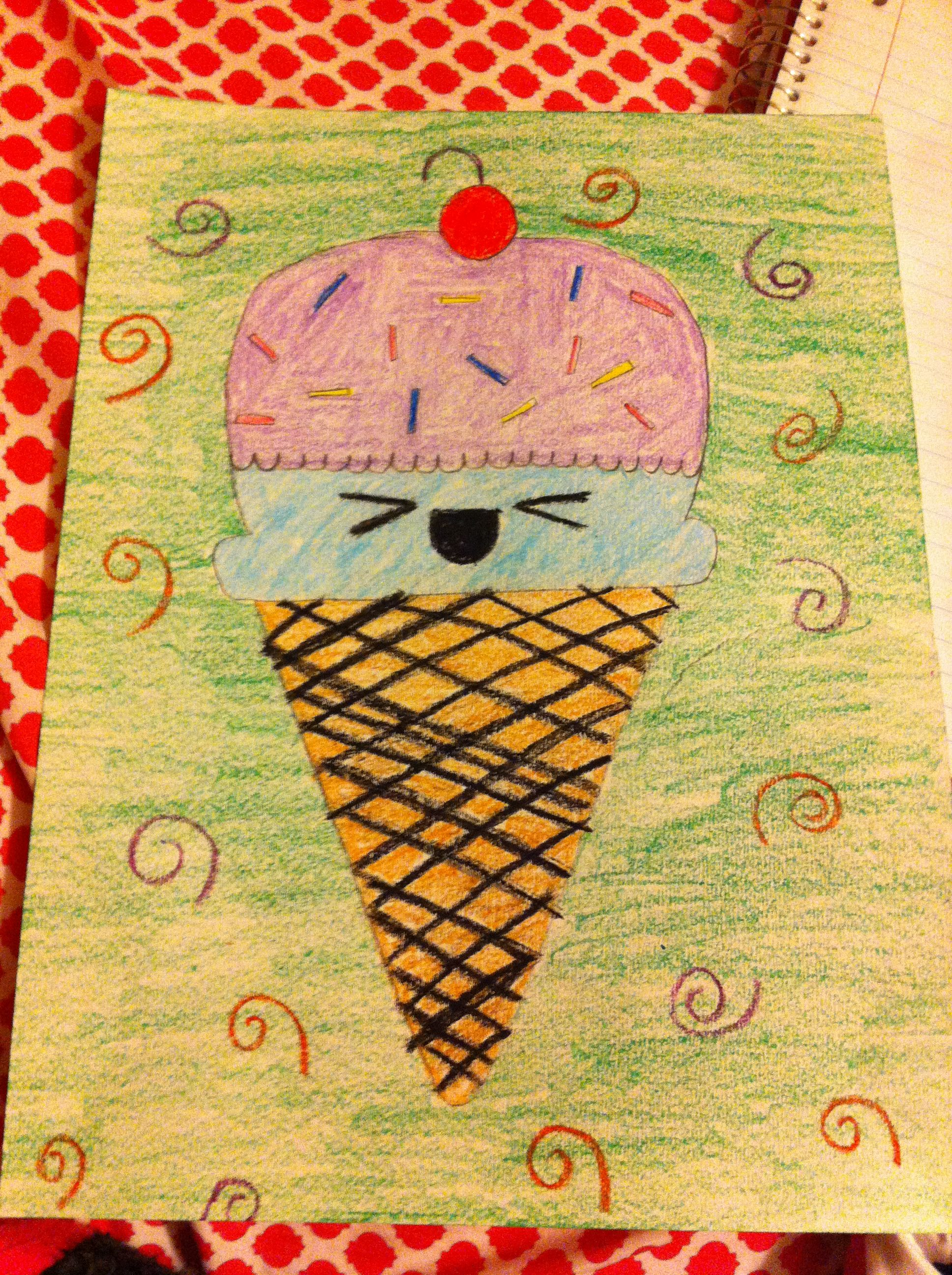 It's an ice cream cone Kids rugs, Painting