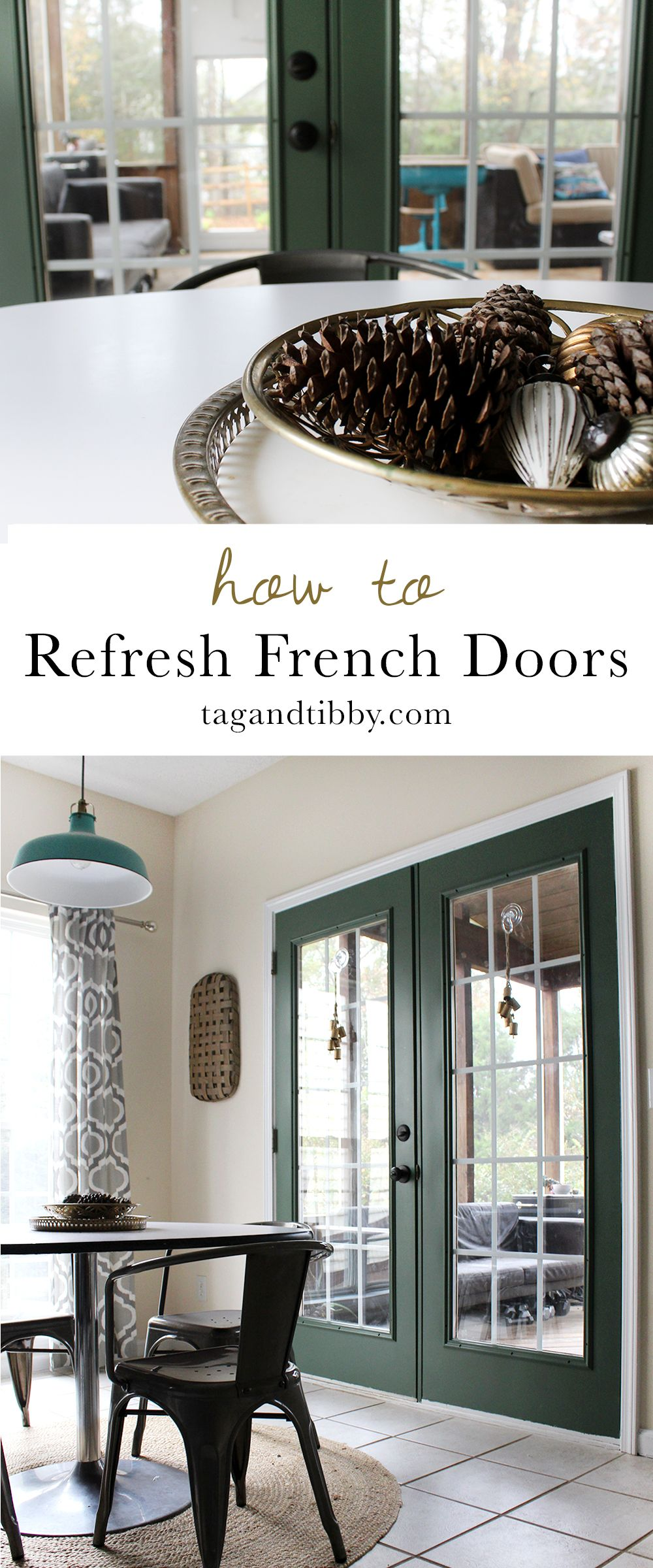 Window ideas for family room  refresh a dated french door with paint  step guide doors and