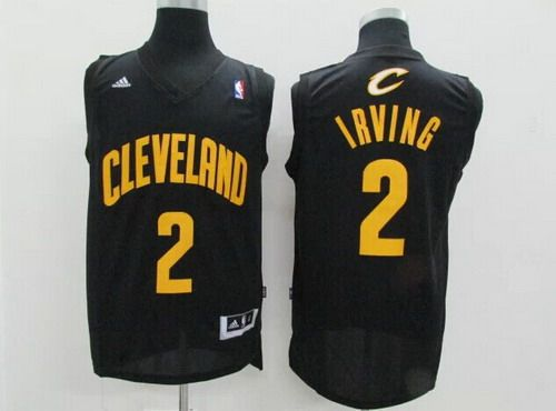 f1533fc1116 Cleveland Cavaliers  2 Kyrie Irving Revolution 30 Swingman Black With Gold  Jersey