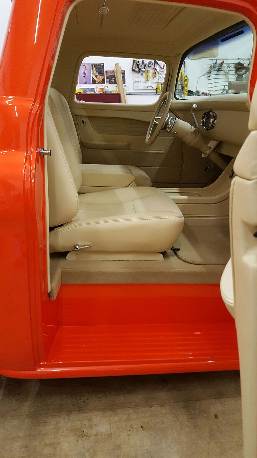 1977 chevy c10 stepside car interior design - 1955 Chevy Truck Built By East Coast Muscle Cars Bux Customs Hot Rod Interiors