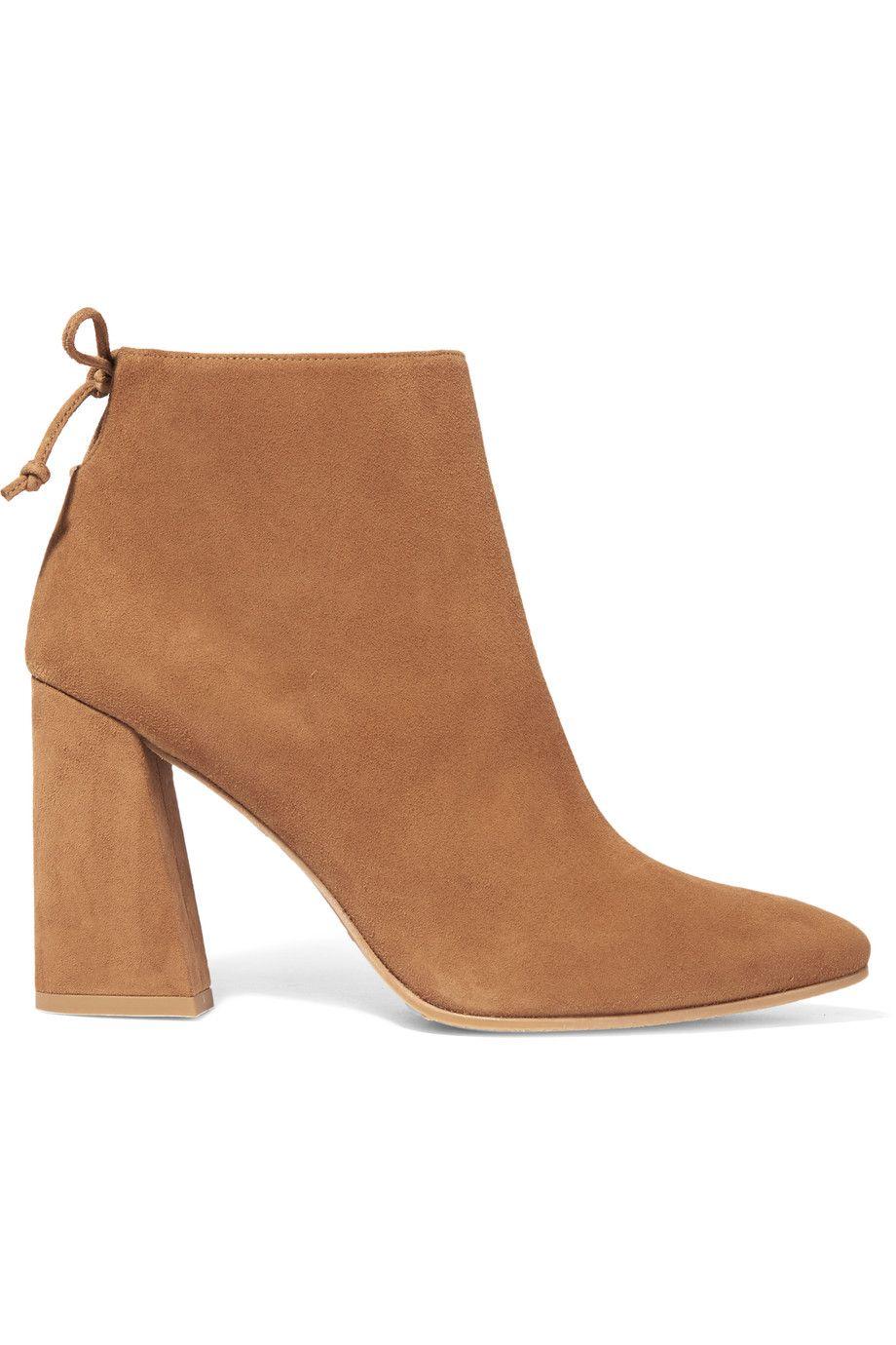 Shop on-sale Stuart Weitzman Grandiose suede ankle boots. Browse ...