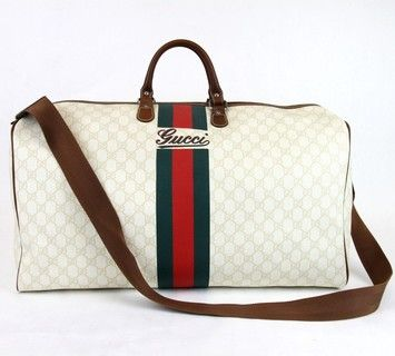 166b2a6d7 Gucci X Large Boston Travel Duffle W/web Strap 189744 New Multi-Color  Travel Bag. Save 25% on the Gucci X Large Boston Travel Duffle W/web Strap  189744 New ...