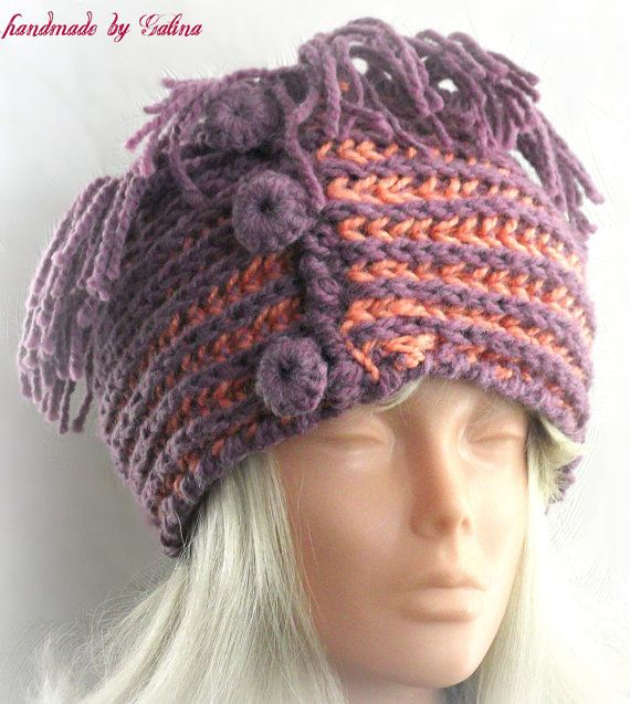 Hand Knit Ear Warmer Headband with Crochet Boutton by Gaitaly2 ...