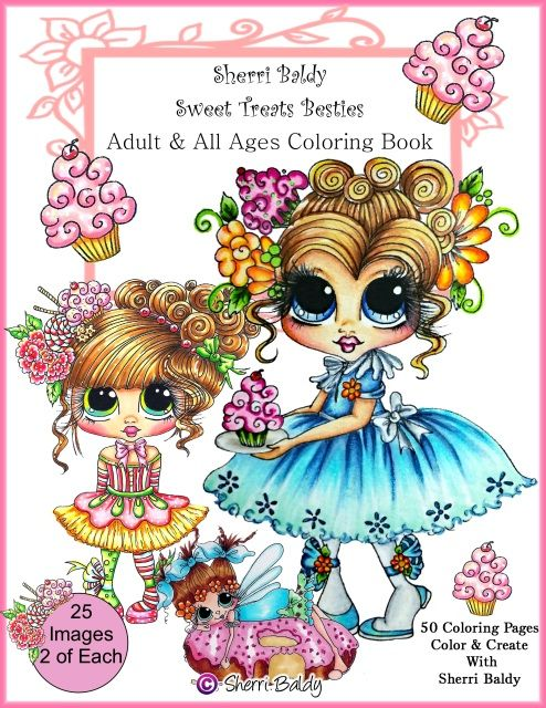 INSTANT Digital Download 25 PAGES Coloring Books By The Artist