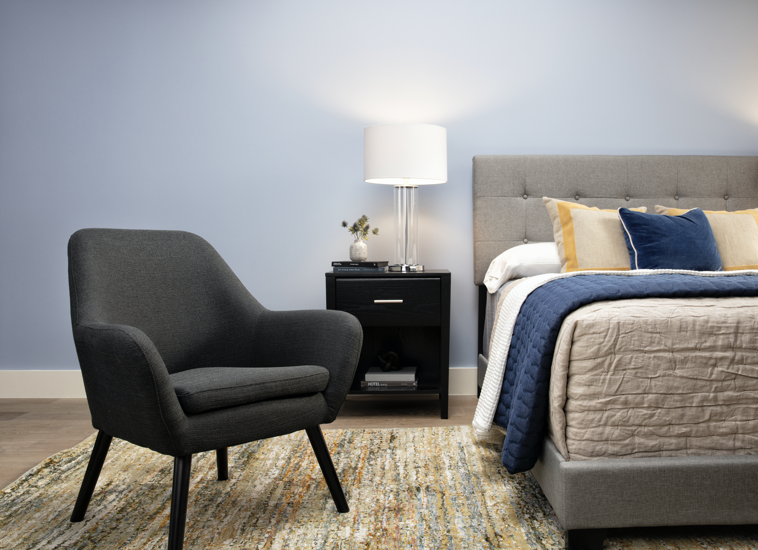 Mercury Dark Grey Accent Chair Grey Accent Chair Simple Bedroom Accent Chairs