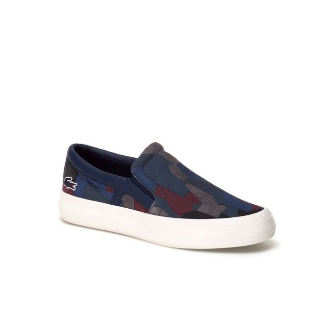 On In Live René Slip Chunky Sneakers Camouflage Lacoste Print W1IRncSBR