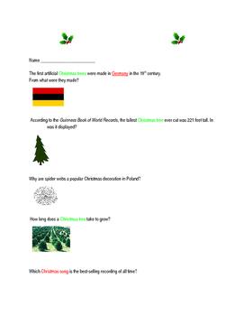 Christmas Trivia Internet Scavenger Hunt | Around the worlds, Kid ...