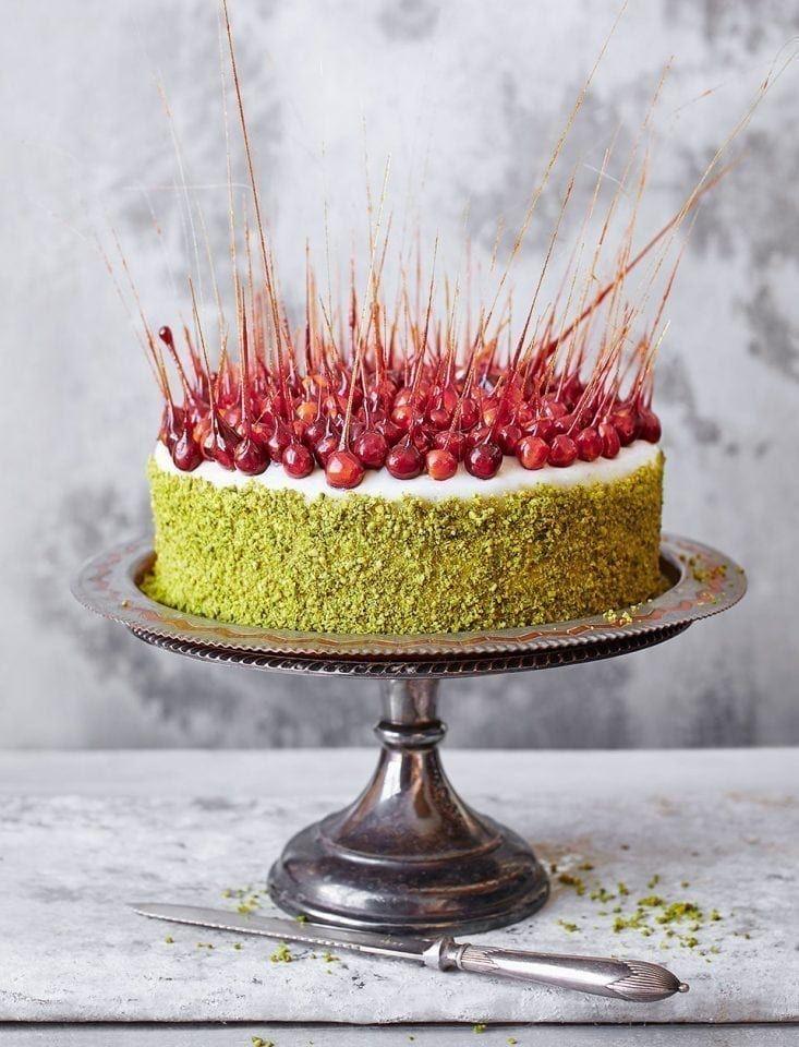 Alternative Christmas Cake.Saffron And Pistachio Christmas Cake
