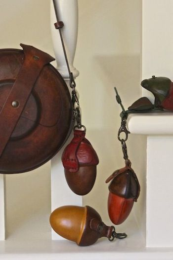 These leather acorn change purses are irresistable!