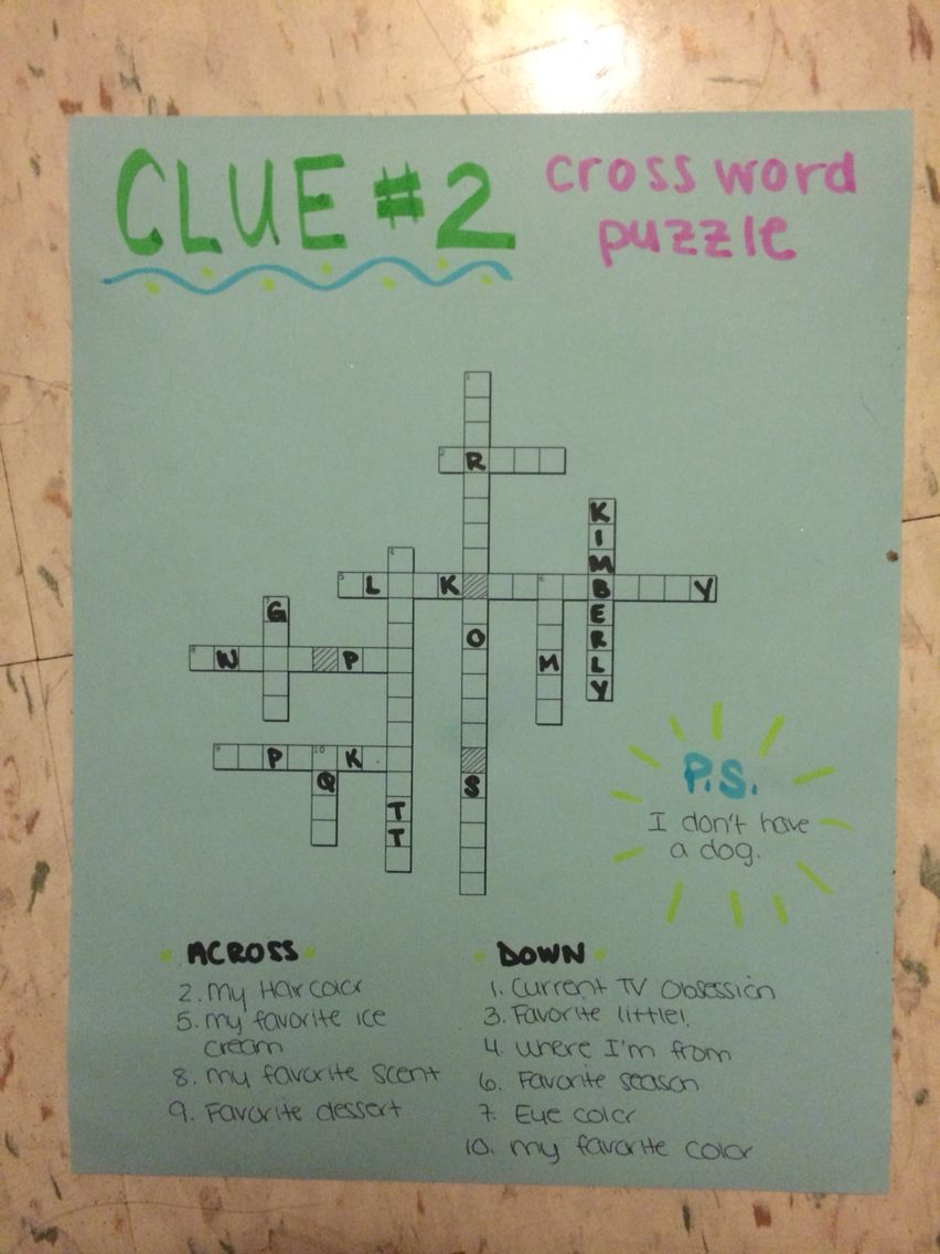 big little clue crossword