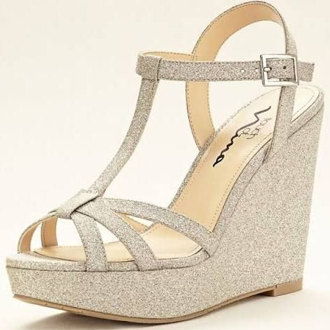 f3d5758aa612d formal wedges shoes | Wedge Sandals | Wedge wedding shoes, Glitter ...