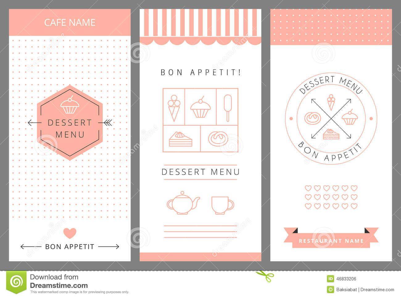 dessert menu design - Busca de Google | Dessert Cartel | Pinterest
