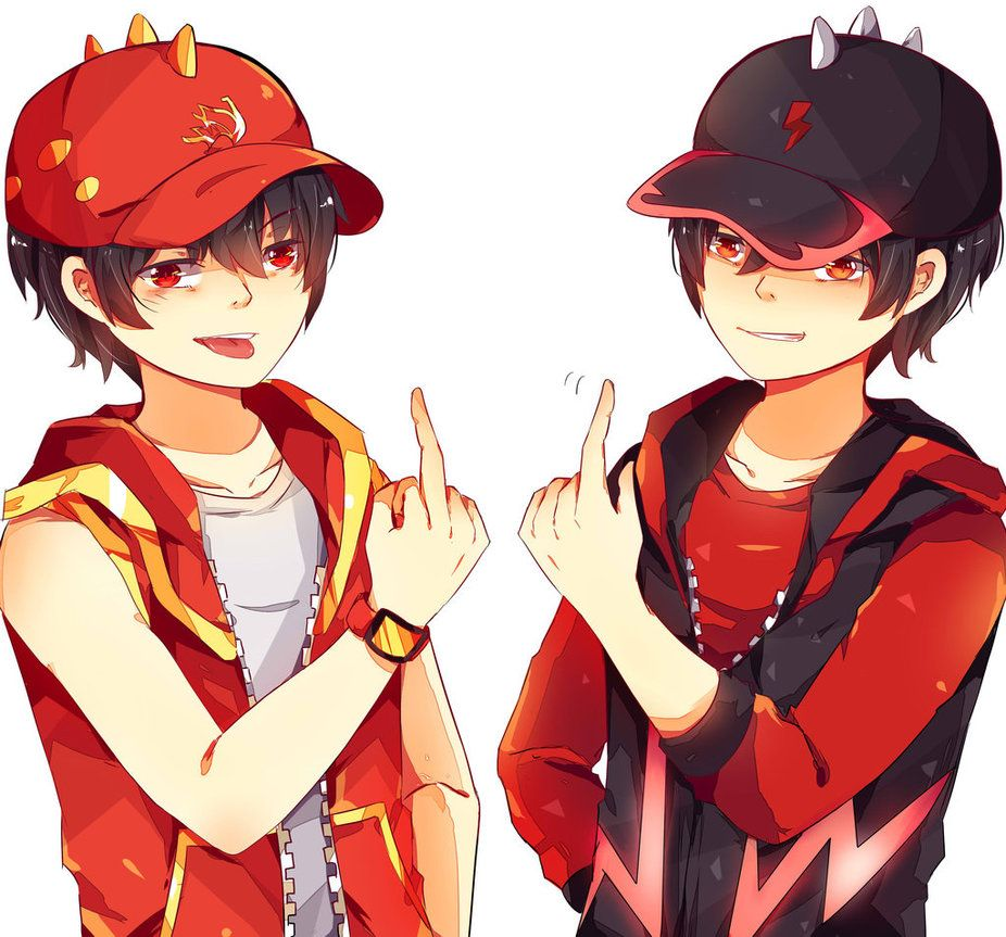 BoBoiBoy Api and Halilintar by