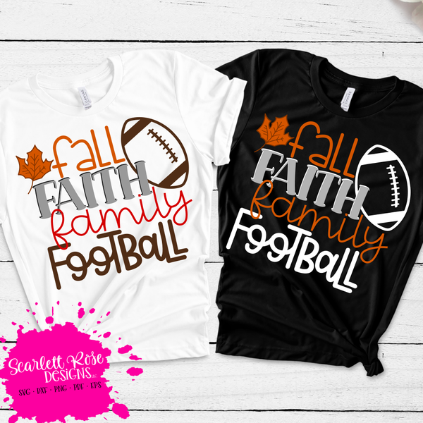 Fall Faith Family Football Svg Fall Football Svg Faith Family Vinylshirt Svgcuts Htv Shirts Fall Shirts Vinyl Fall Shirts