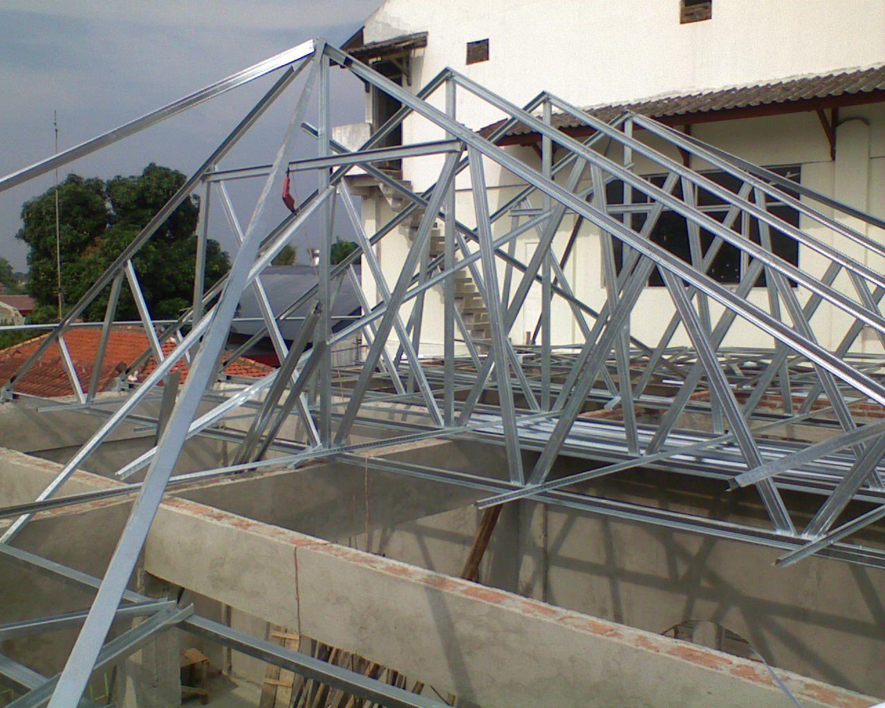 Pemasangan Atap Baja Ringan Balikpapan Advertising Jasa Produksi Neon Box Toko