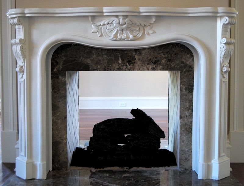 Small French Stone Fireplace Mantel Mt1002s With Images Stone