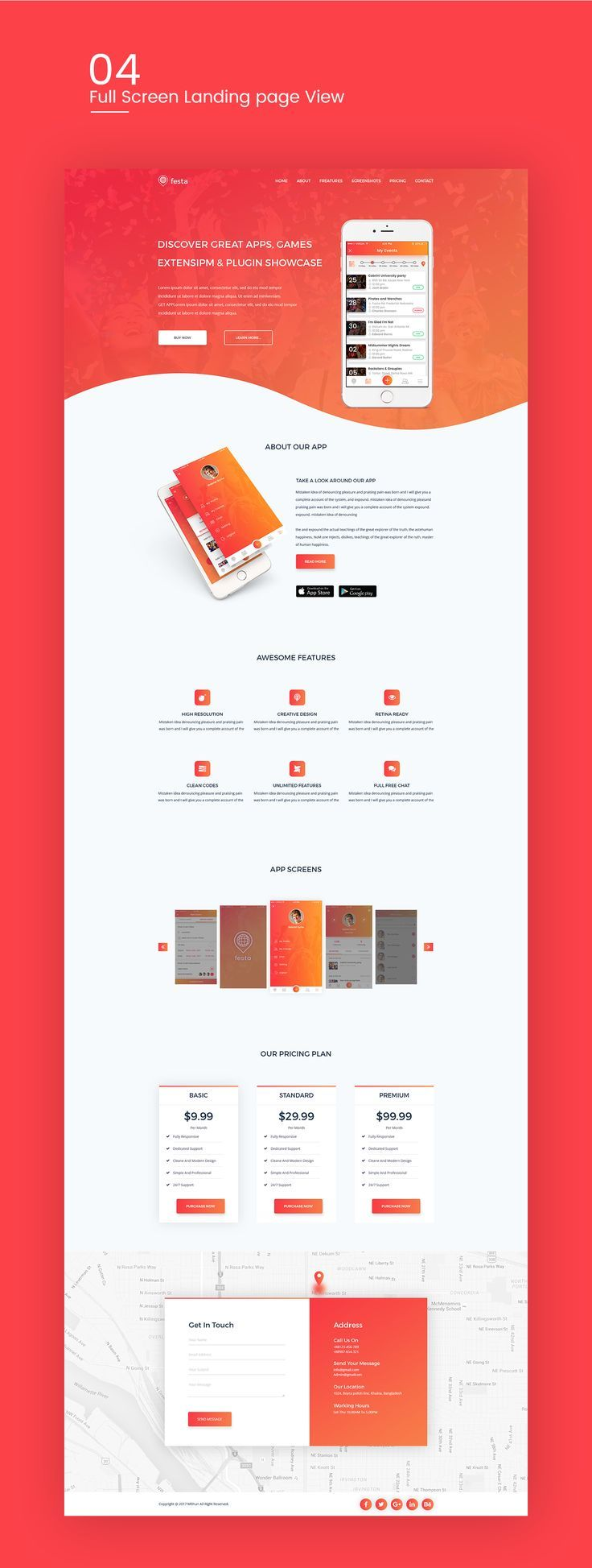landing page web design concept which is modern