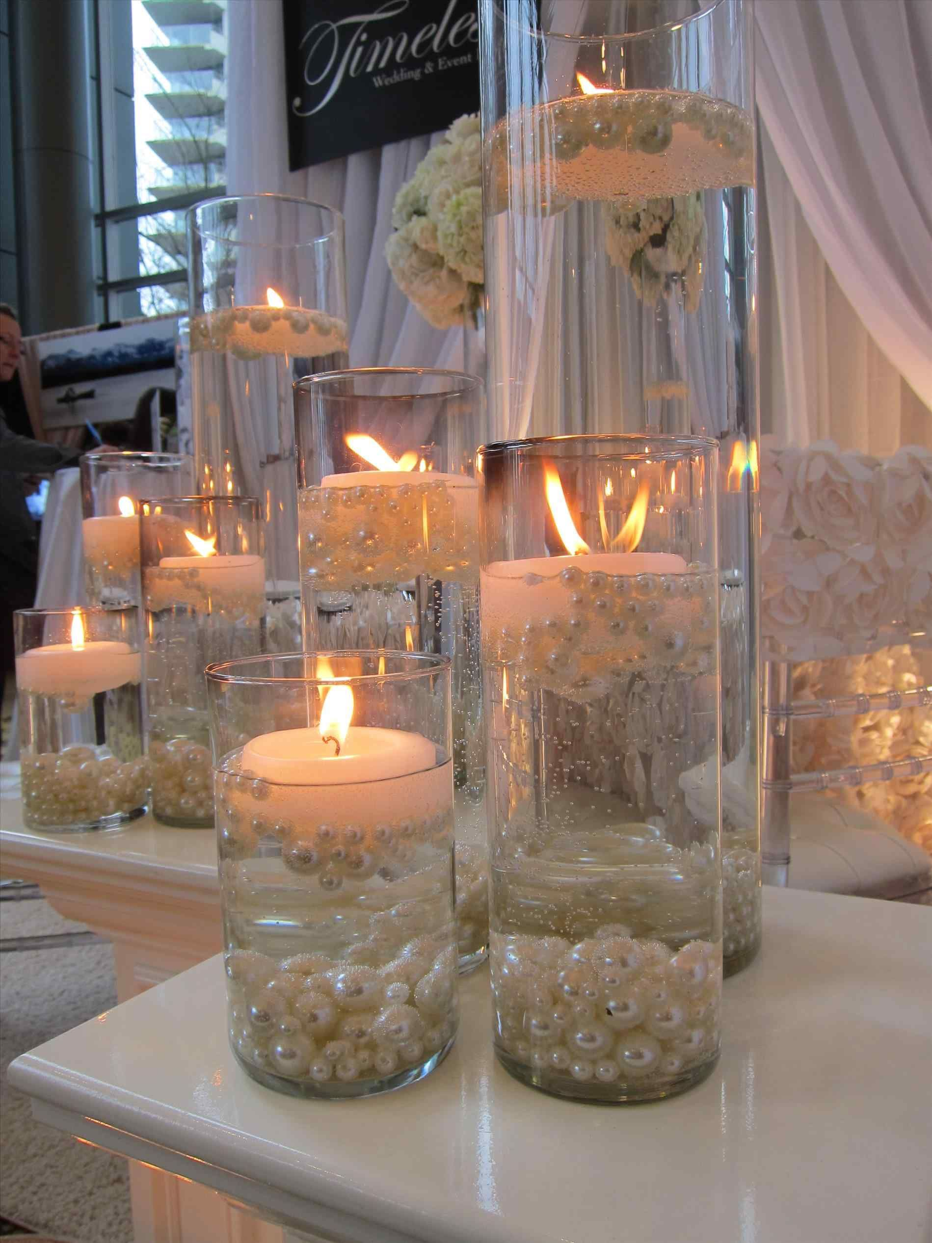 Table Decoration For Engagement Party Water Wedding Centerpieces Wedding Centerpieces Wedding Candles