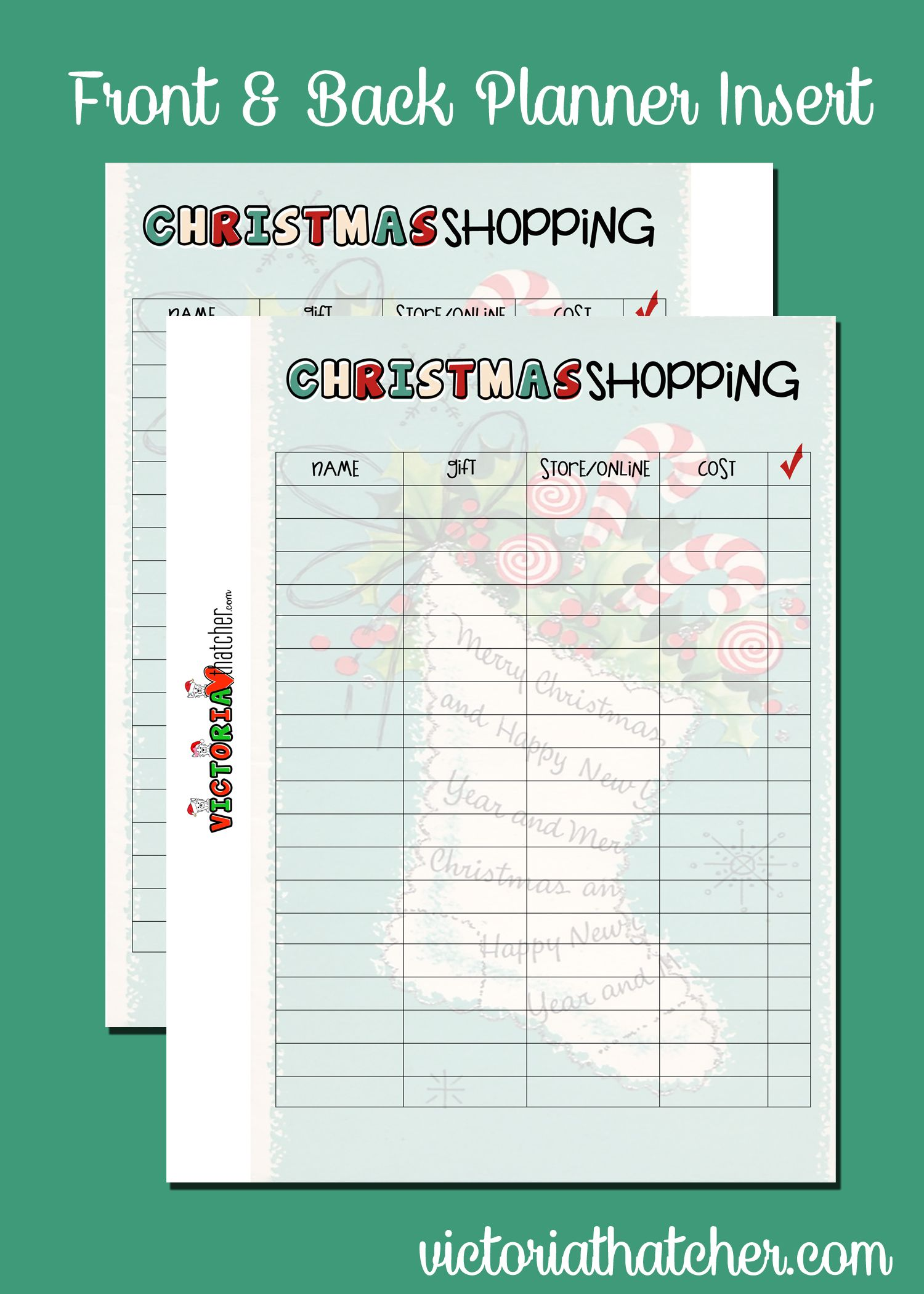 Christmas Planner Inserts for the large HP | My Happy