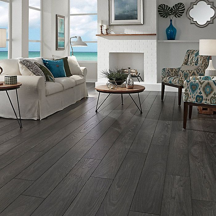10mm Wirebrushed Carbon Oak Dream Home Lumber Liquidators Grey Laminate Flooring Home Grey Laminate Flooring Living Room