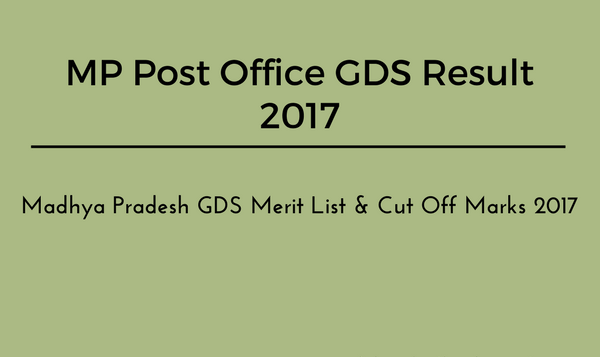 Mp Post Office Gds Result   Mp Gramin Dak Sevak Merit List