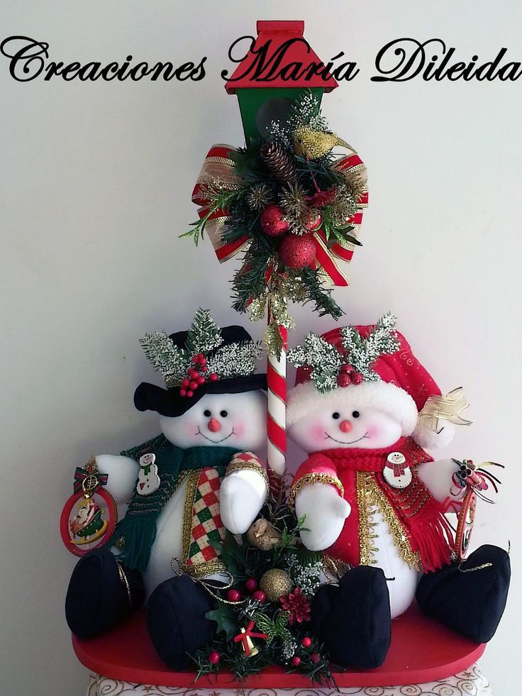 Ideas para decoracion con monos de nieve de fieltro - Decoracion de navidad manualidades ...