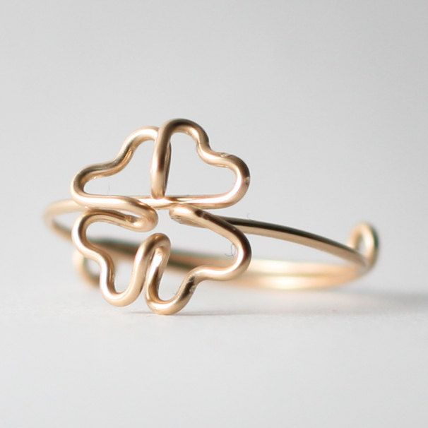 Clover ring Diy wire jewelry, Wire jewelry, Jewelry