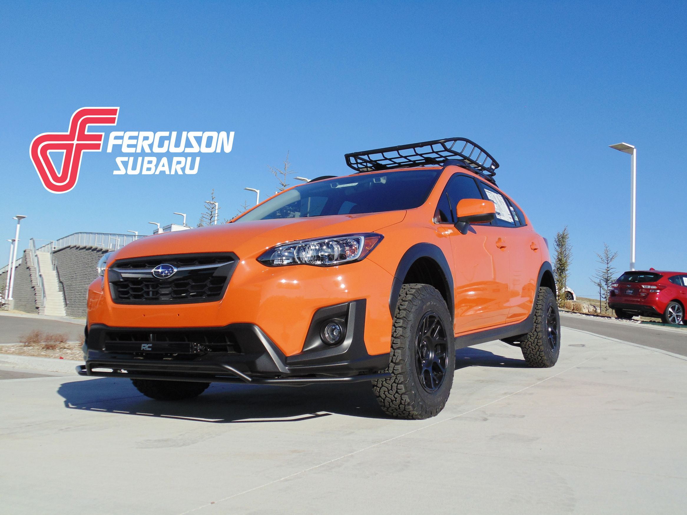 Bring Some Extra Sunshine Into Your Life With This Lifted 2018 Crosstrek Orange Lifted Crosstrek Subaru Subaru Crosstrek Dream Cars
