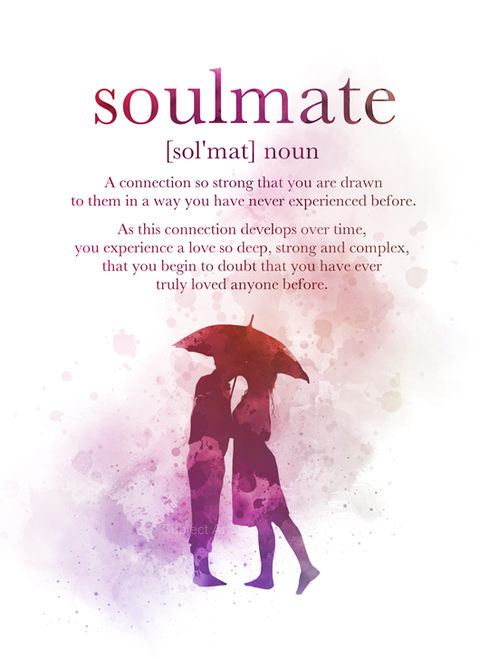 Soulmate Definition Quote ART PRINT Gift, Wall Art, Home Decor