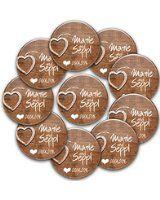 11er Set Personalisierte Jga Anstecker 1 1 Braut Button 76mm 10 Buttons In 56mm Mit Namen Und Datum Individualisie Junggesellinnenabschied Anstecker Button