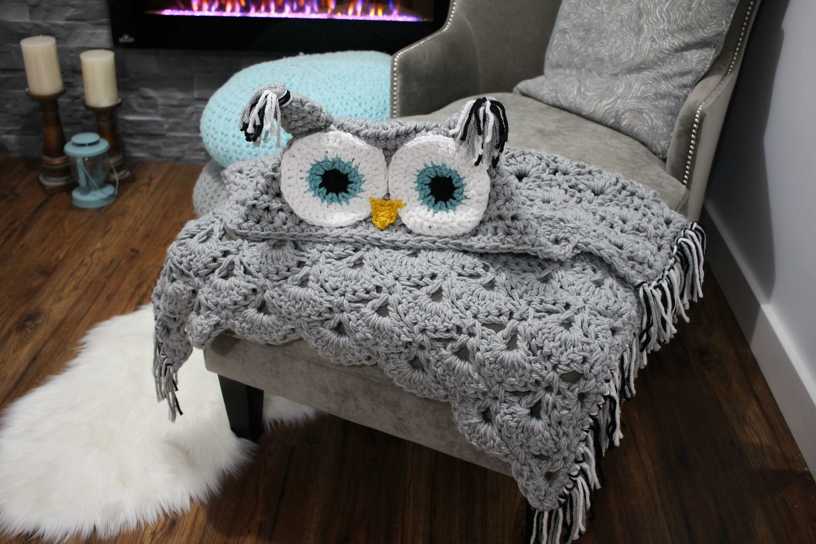 This Crocheted Owl Blanket Is the Only Thing You Need This Winter