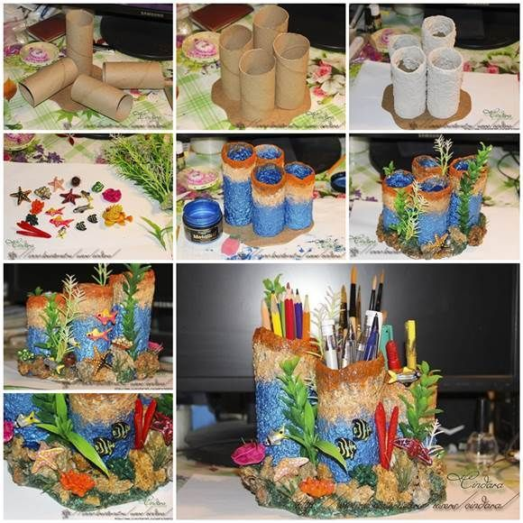 creative idea fancy toilet paper holder. DIY Coral Reef Pencil Holder from Toilet Paper Rolls 3 How to Easy