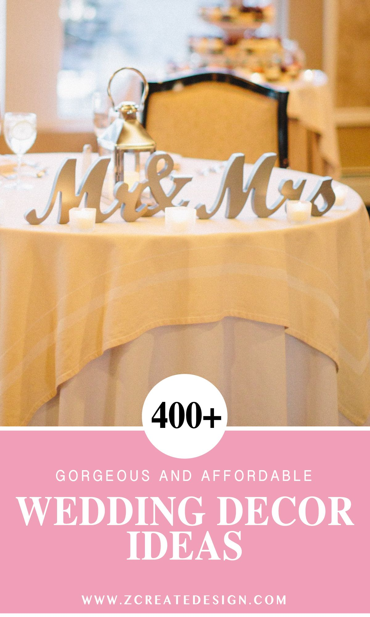 Over 500 Ideas for Your Wedding Day Decor ~ Custom Sweetheart Table Signs, Personalized Gifts, so many things to choose from! | Handmade Wedding Decor & Gifts at www.ZCreateDesign.com... or shop ZCreateDesign on Etsy