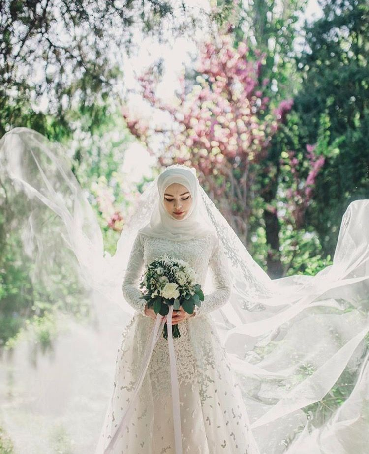 Beauty Muslim Bride Pece Nikab Nikap Nikabis Kapali Carsaf Hicab Hijab Tesettur Gelin Dugun Gaun Pengantin Hijab Gaun Pengantin Sederhana Pengantin Berhijab