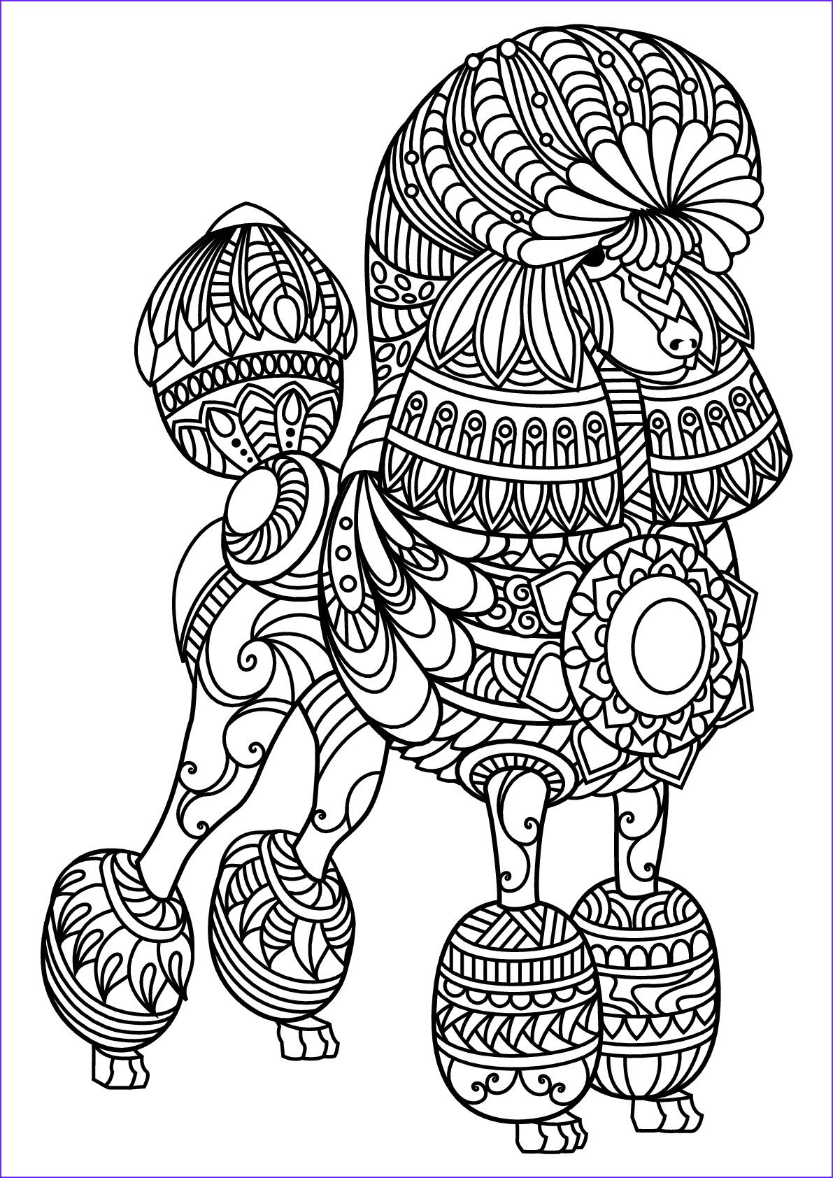 45 Unique Photos Of Dog Adult Coloring Book In With