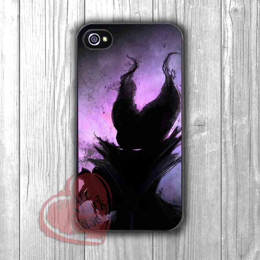Maleficent Silhouette - zzff for iPhone 6S case, iPhone 5s case, iPhone 6 case, iPhone 4S, Samsung S6 Edge