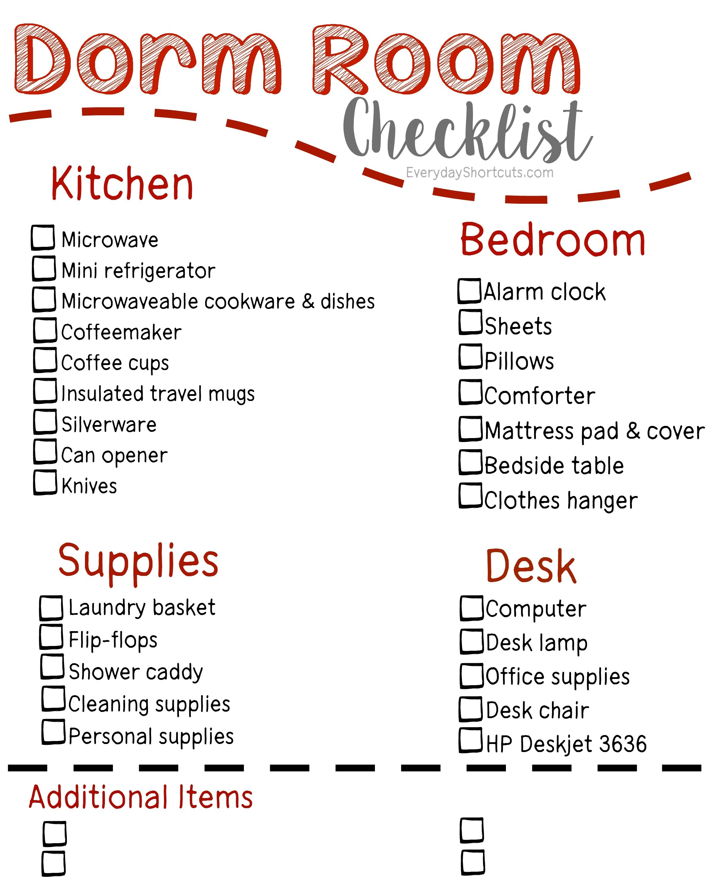 Dorm Room Checklist  Dorm Room Checklist Dorm Room And Dorm
