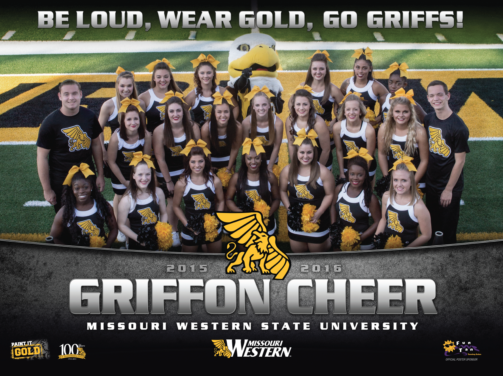 Missouri Western Cheer Poster Cheer Posters Missouri Western Missouri