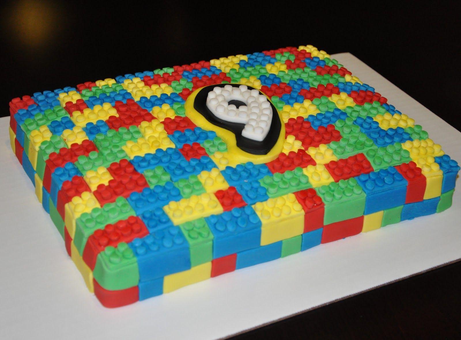LEGO Birthday Cakes For Boys Birthdaycakespartycakescool - Lego birthday cake decorations