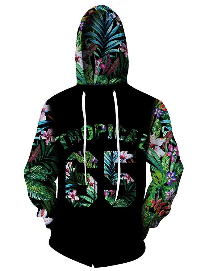 Coslover Unisex 3D Printed Hoodies Hooded Sweatshirt Jacket Mens/&Women