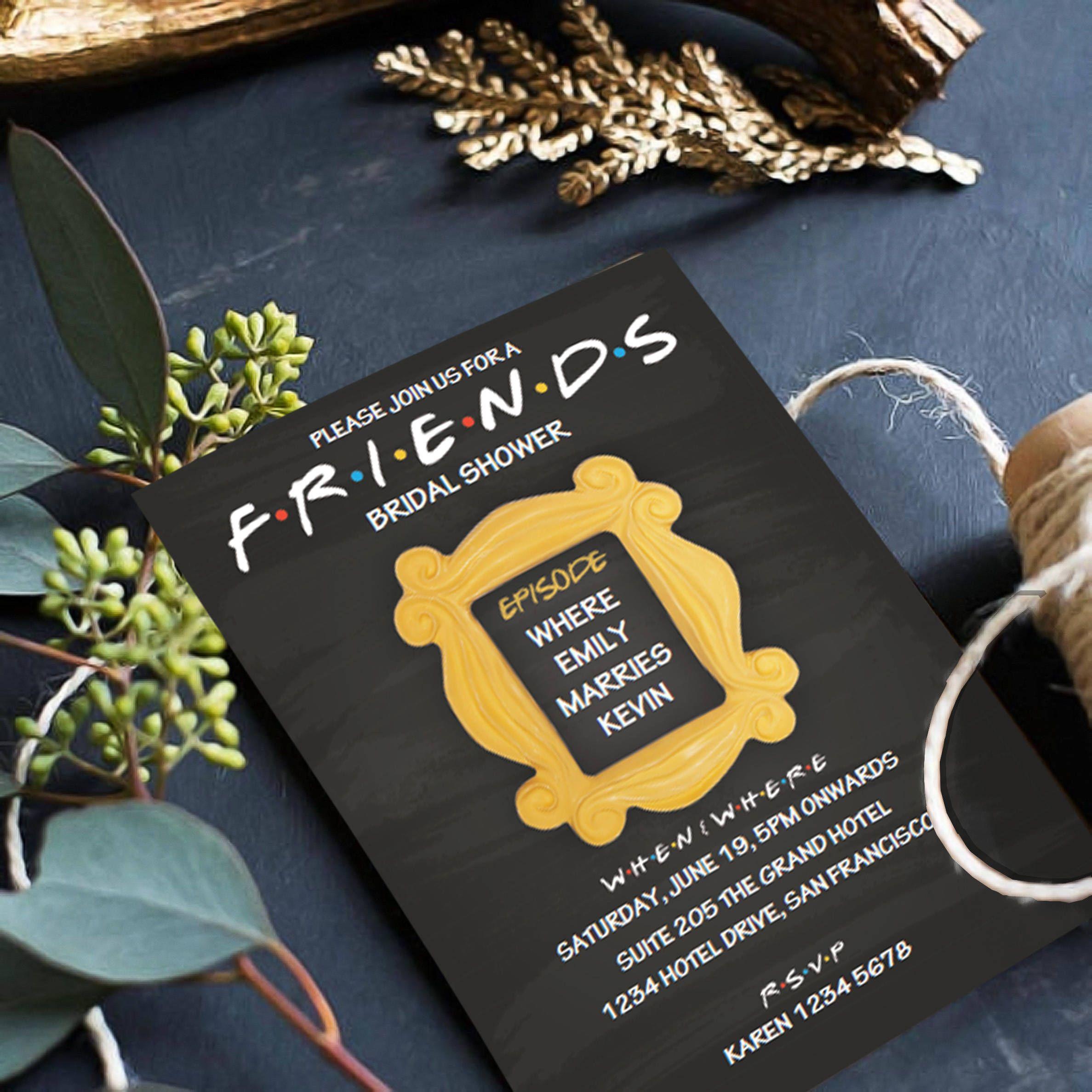 3baab5e5ebd6 FRIENDS   TV Show   Invitation   Bridal   Shower   Brunch ...