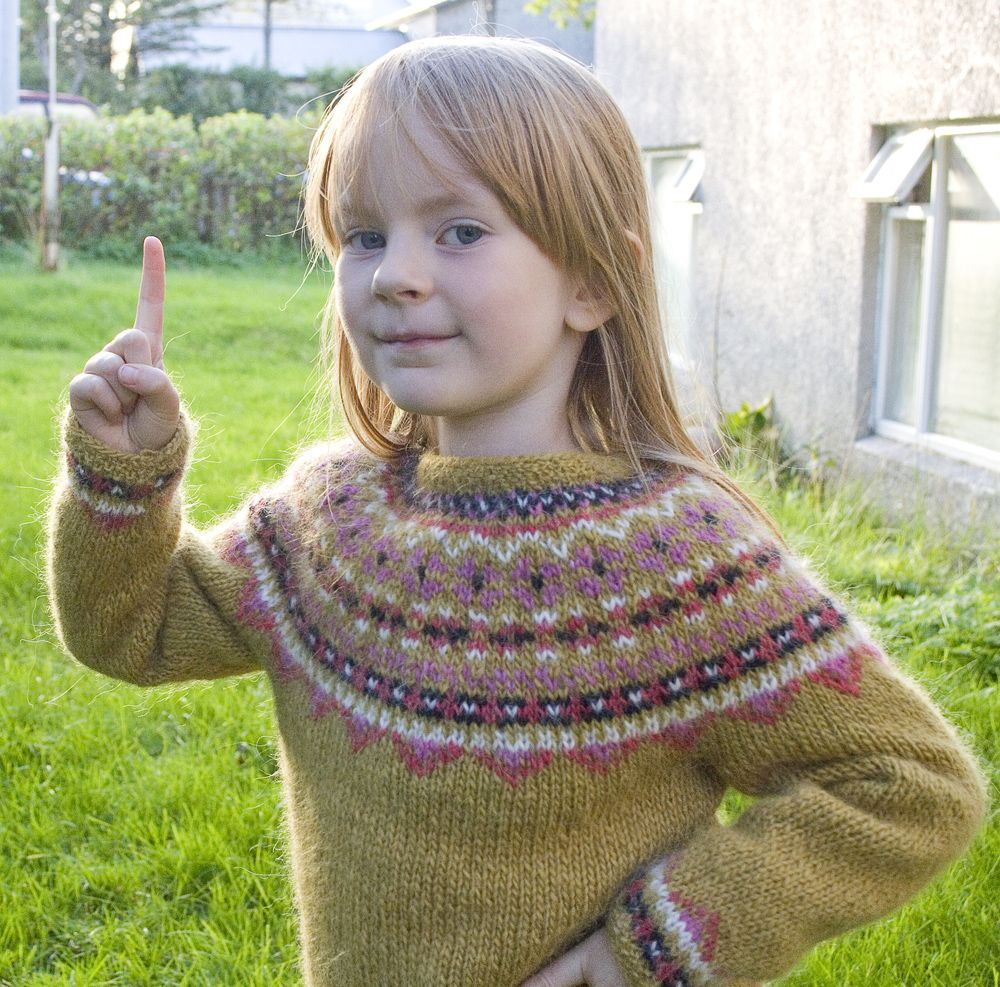 Fimma lopapeysa Icelandic lopi sweater   jumper knit pattern ...