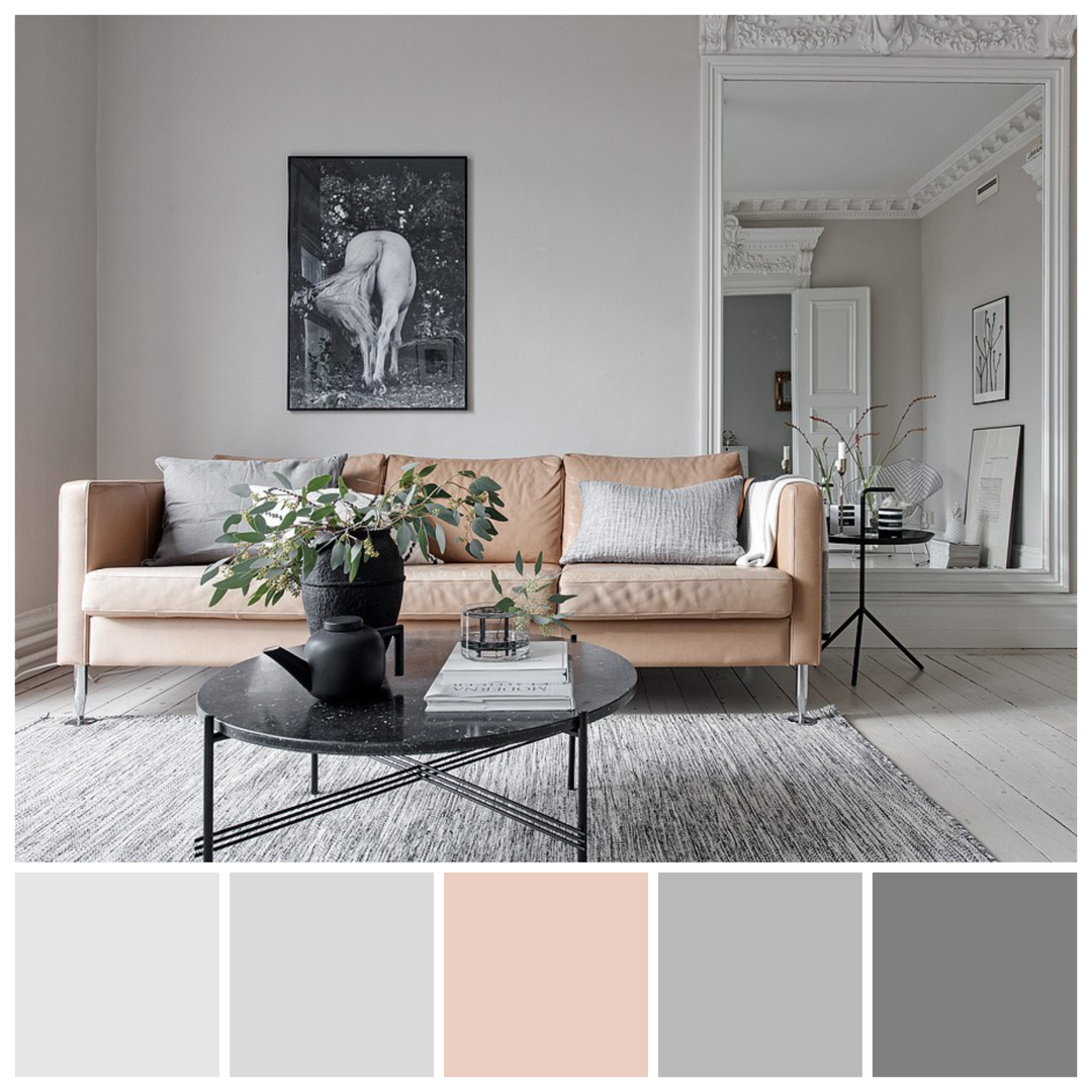 Achromatic Colour This Stunning Apartment Features An Essentially Achromatic Col Achromatic Color Paint Colors For Living Room Color Schemes Colour Palettes